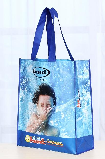 Bolsa reutilizable impresa a full color en material laminado