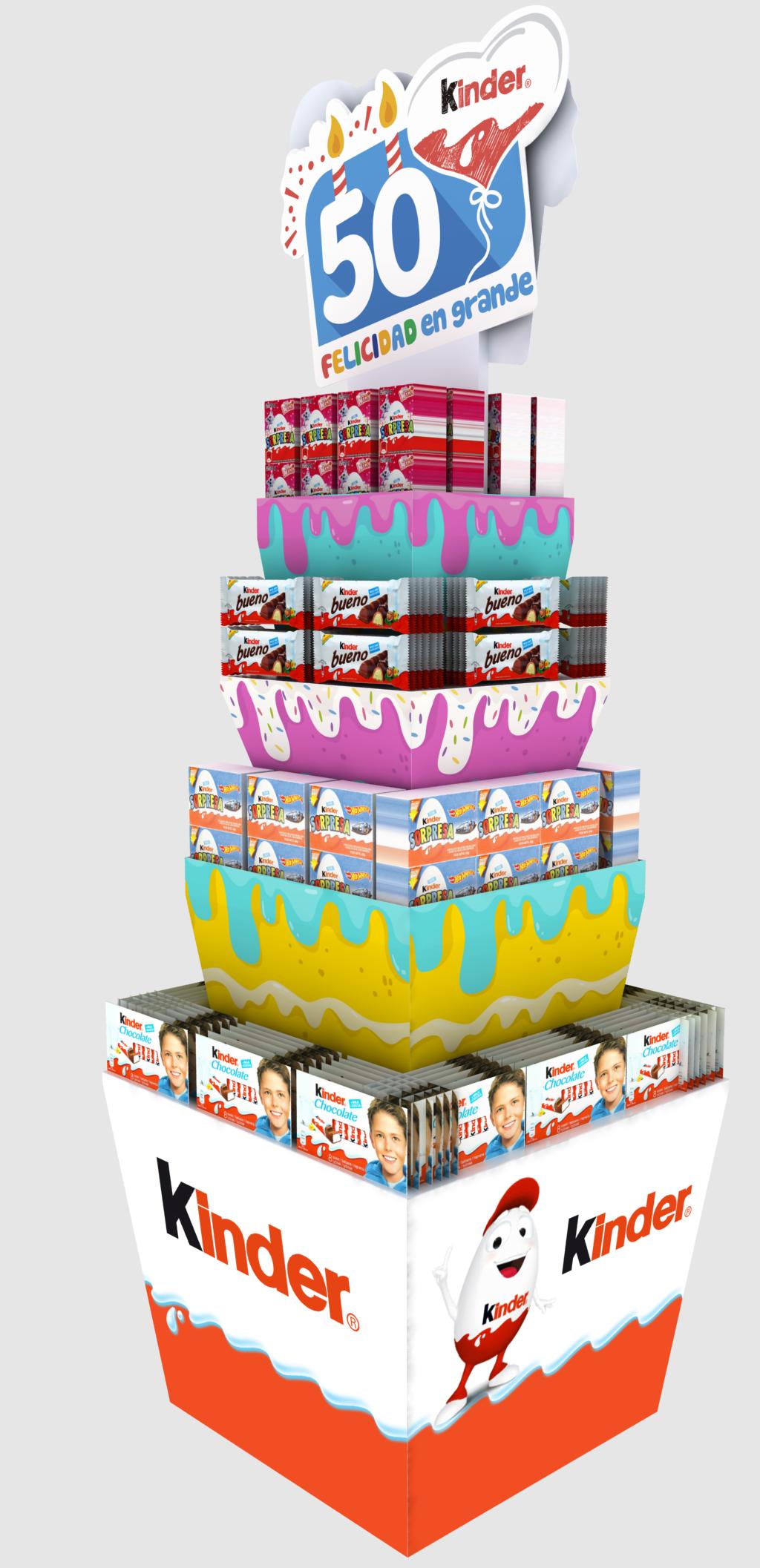 Exhibición en cartón ECO impreso a full color con capacidad de cargue
