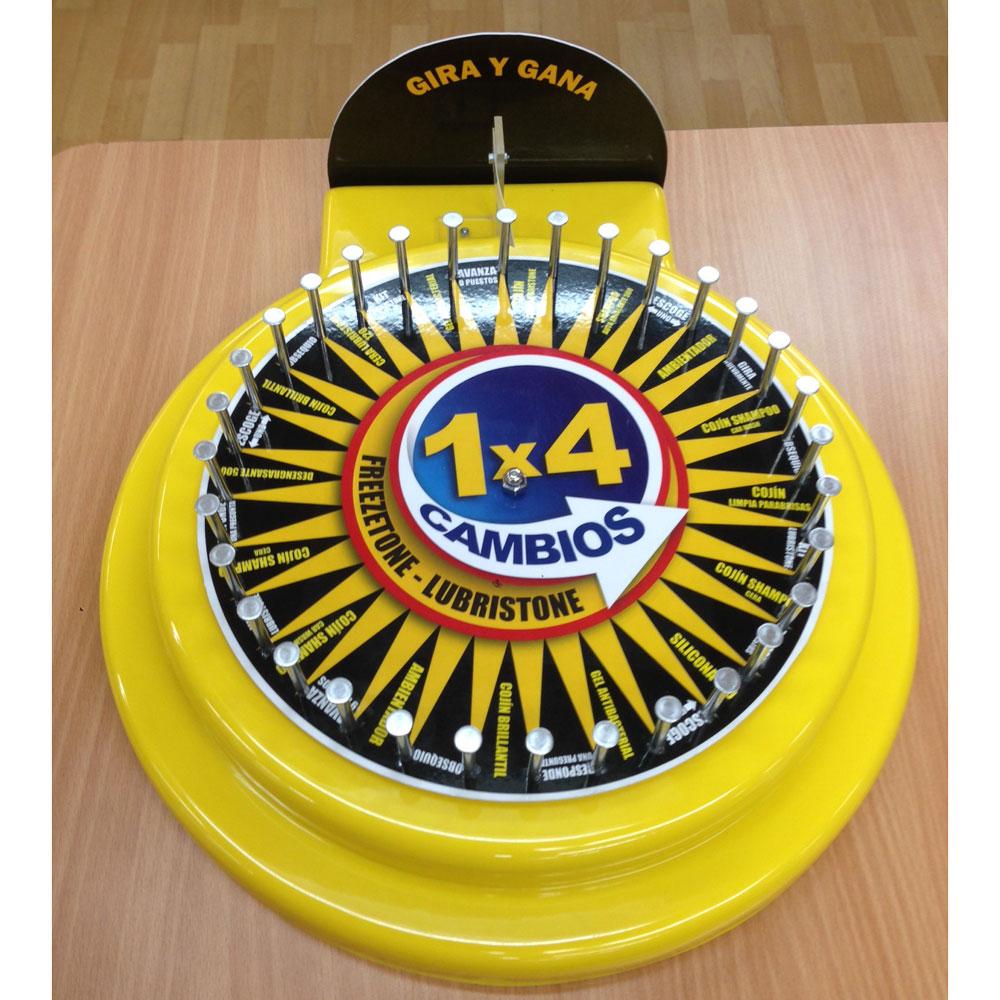 Juego ruleta para premios instantáneos en puntos de venta