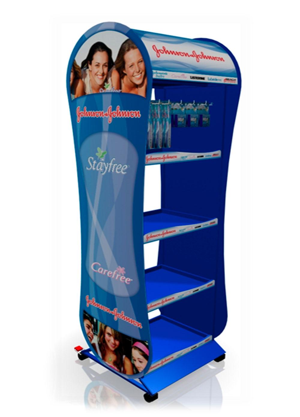 Mueble multimarca con gran capacidad de carga con sistemas de cambio de publicidad