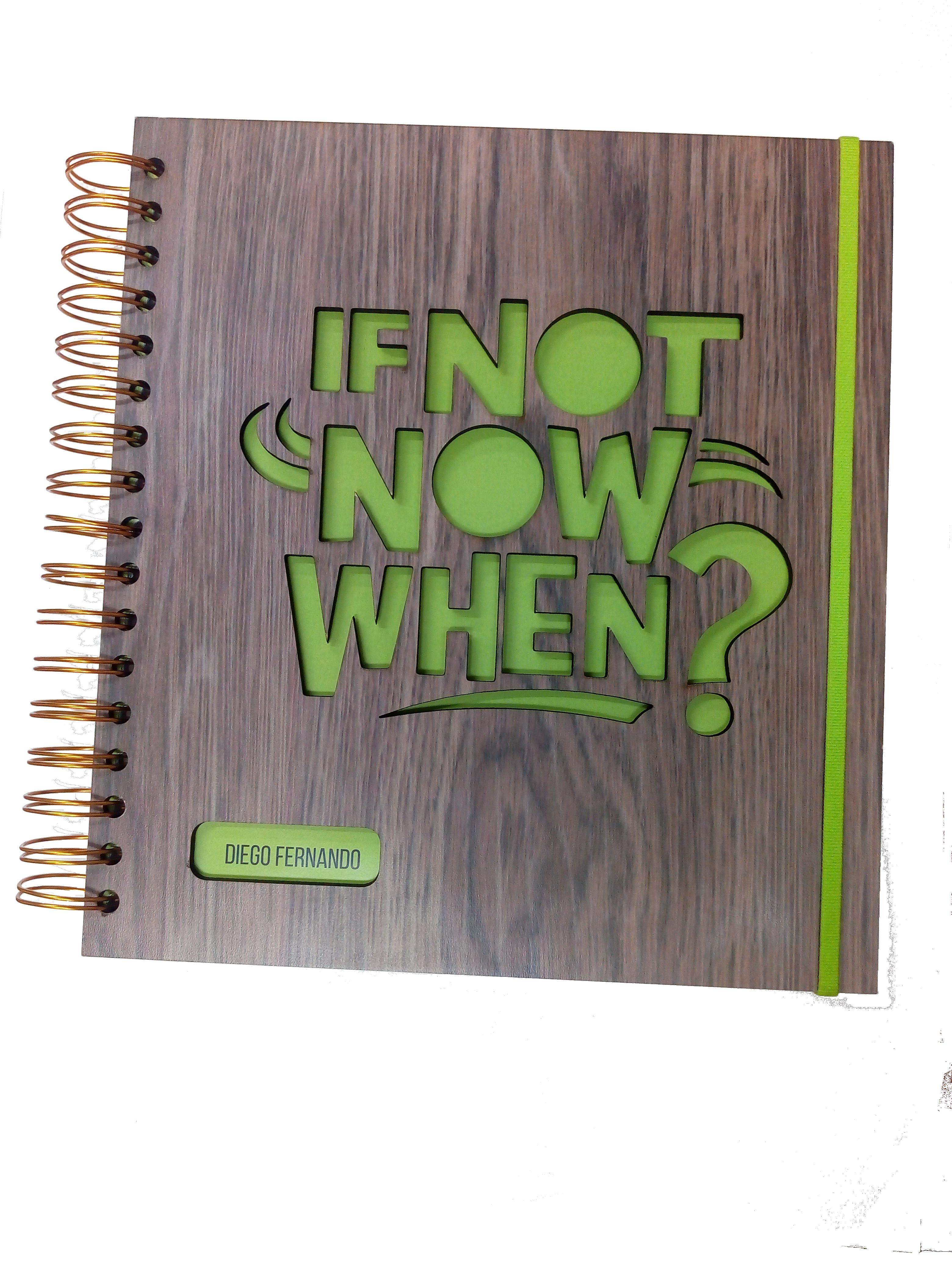 Cuaderno ECO con caratula en madera