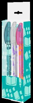 Set lapiceros con empaque en vipac personalizado con la marca