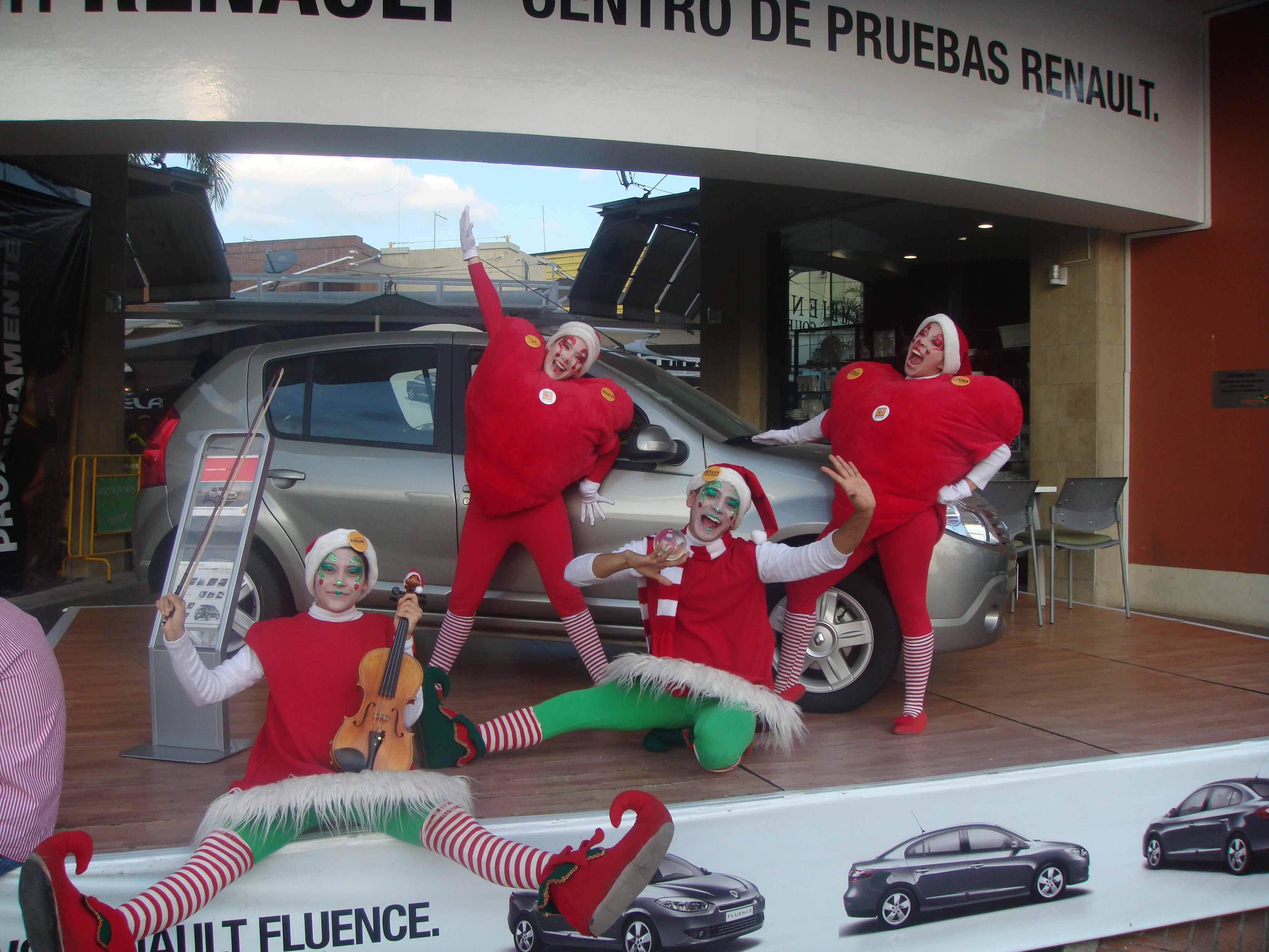 Toma de centros comerciales en Navidad