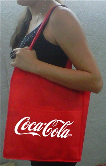 Bolsa promoción estampada Coca Cola