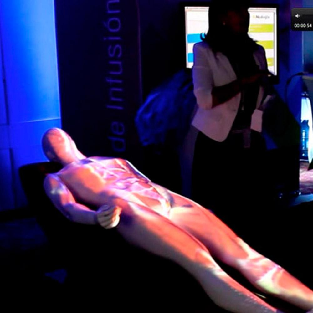 Aplicación mapping sobre cuerpo para visualizar el efecto del medicamento