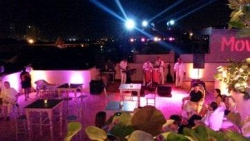 Evento nocturno en terraza de Cartagena