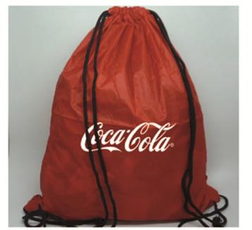 Tula Coca Cola en seda estampada